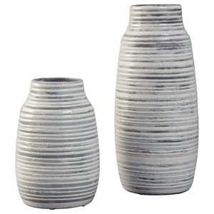 Ashley Signature Design Accents Donaver Gray/White Vase Set