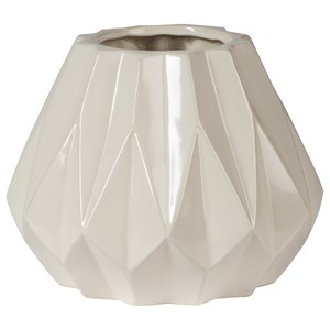 Signature Design by Ashley Accents Diego White Vase