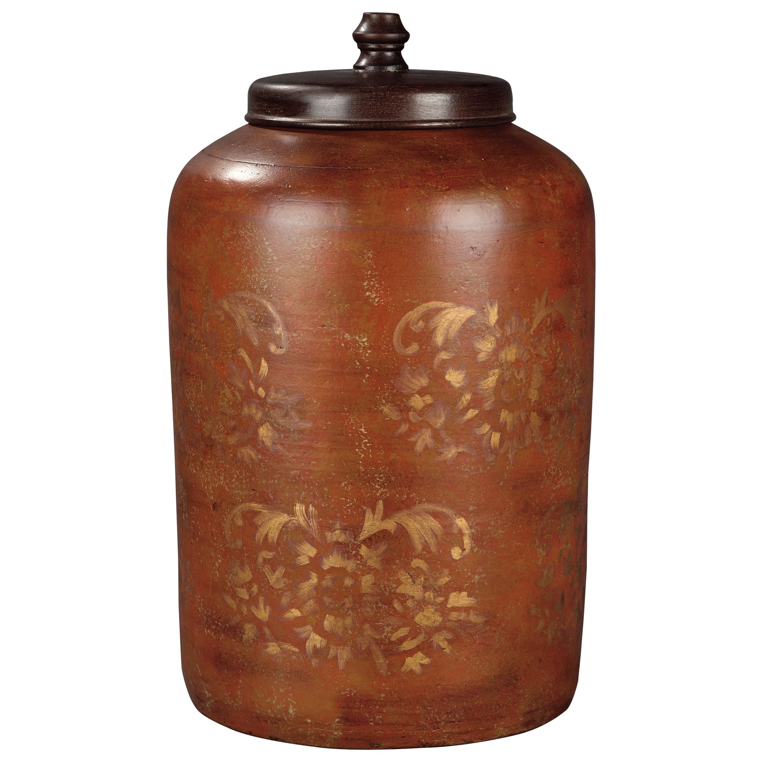 Signature Design by Ashley Accents Odalis Orange/Tan Jar - Item Number: A2000221