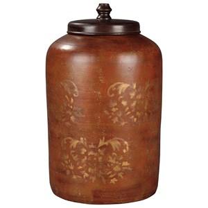 Ashley (Signature Design) Accents Odalis Orange/Tan Jar