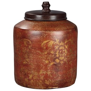 StyleLine Accents Odalis Orange/Tan Jar