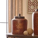 Signature Design by Ashley Accents Odalis Orange/Tan Jar