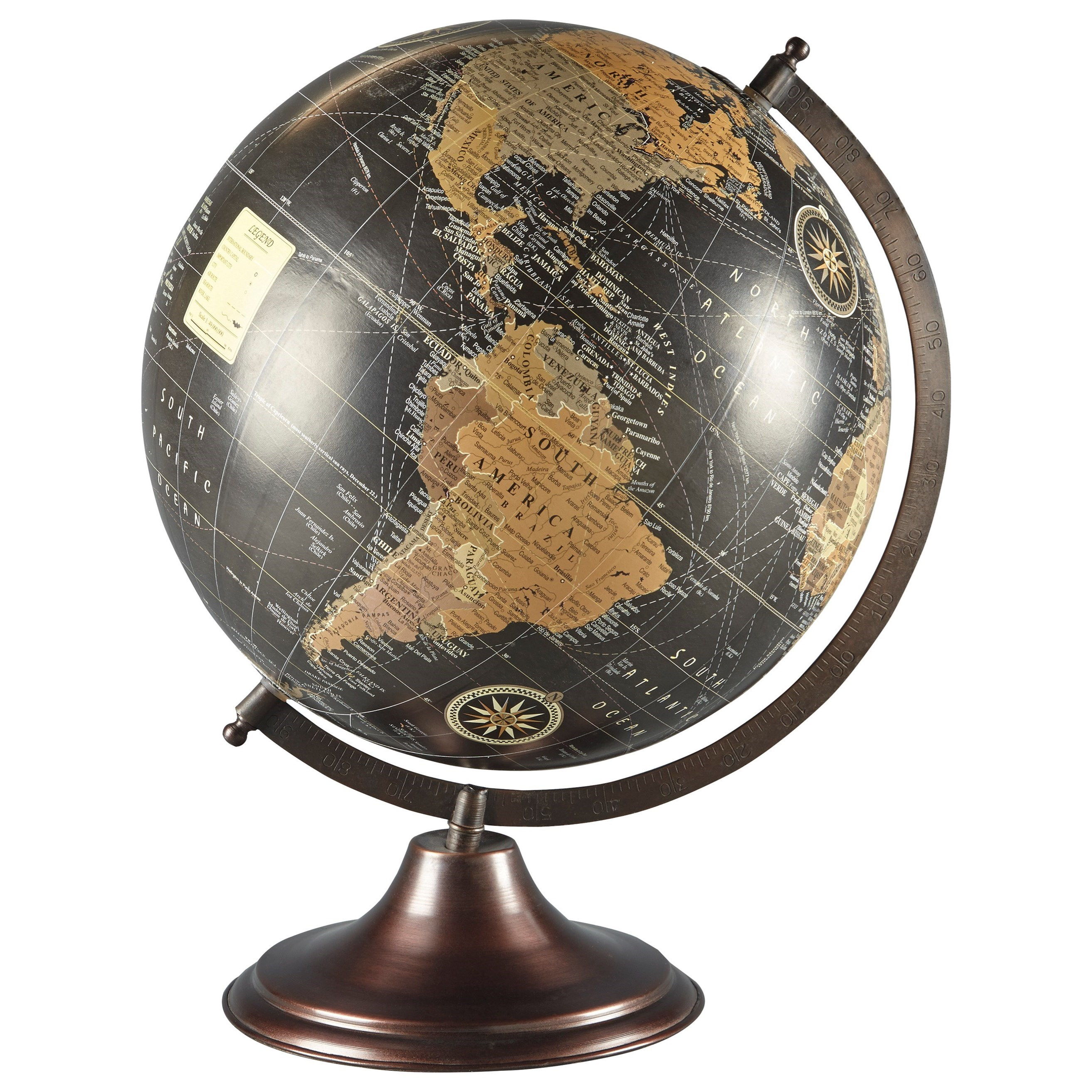 Accents Oakden Multi Globe Sculpture by Ashley Furniture Signature Design at Del Sol Furniture