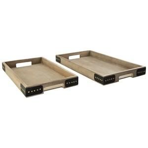 2-Piece Missa Brown Tray Set