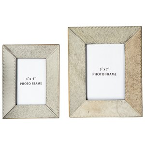 Signature Design by Ashley Furniture Accents Odeda Beige Photo Frame (Set of 2)