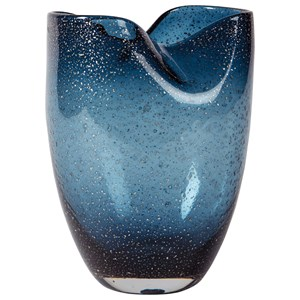 Signature Design by Ashley Accents Didrika Blue Vase