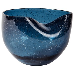 Signature Design by Ashley Furniture Accents Didrika Blue Bowl