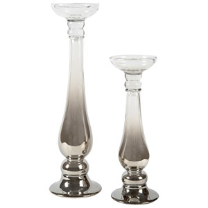 Signature Design by Ashley Accents Devika Candle Holders (Set of 2)