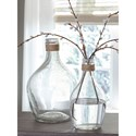 Signature Design by Ashley Accents Marcin Clear Glass Vase Set