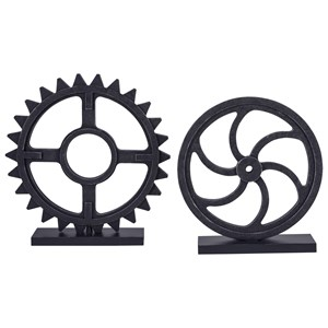 Dermot Antique Black Sculpture Set