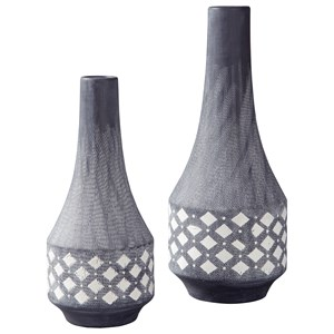 Ashley Signature Design Accents Dornitilla Black/White Vase Set
