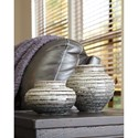 Signature Design by Ashley Accents Devonee Antique Gray Jar Set