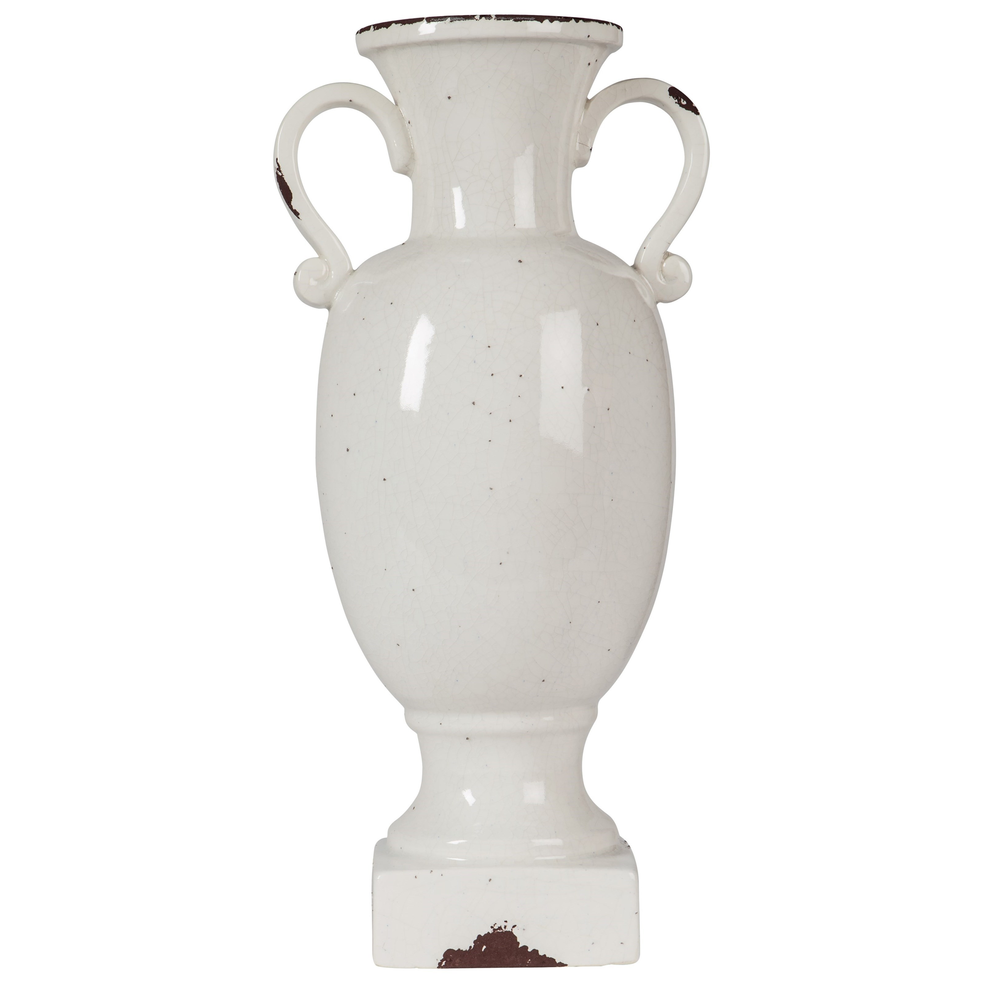 Ashley Signature Design Accents Diedra Antique White Urn - Item Number: A2000271