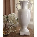 Signature Design by Ashley Accents Diedra Antique White Urn