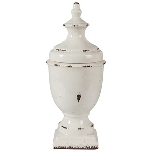 Signature Design by Ashley Furniture Accents Devorit Antique White Jar