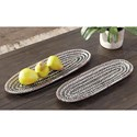 Signature Design by Ashley Accents Devonee Antique Gray Trays (Set of 2)