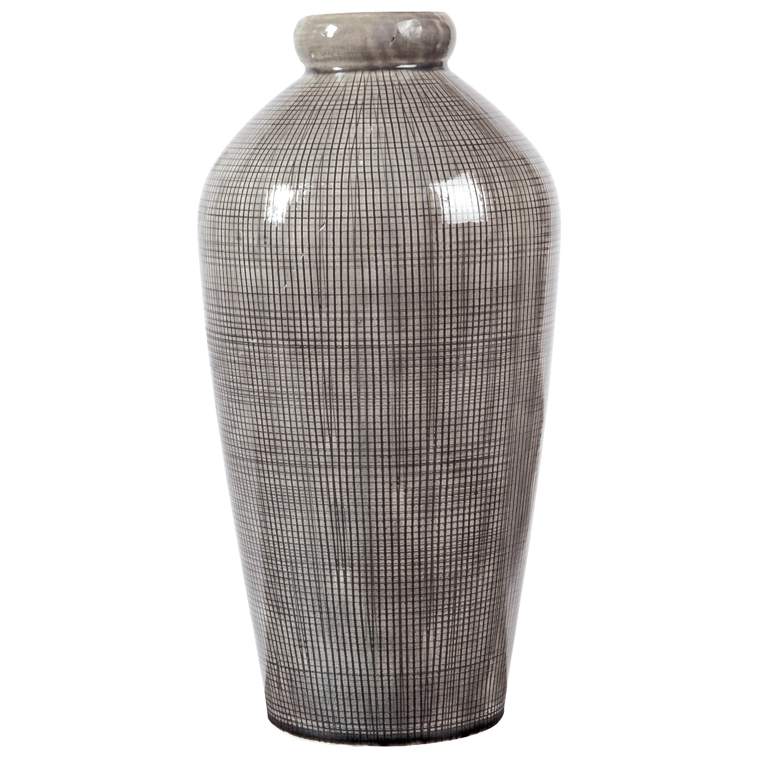 Accents Dilanne Gray Vase by Signature Design at Fisher Home Furnishings