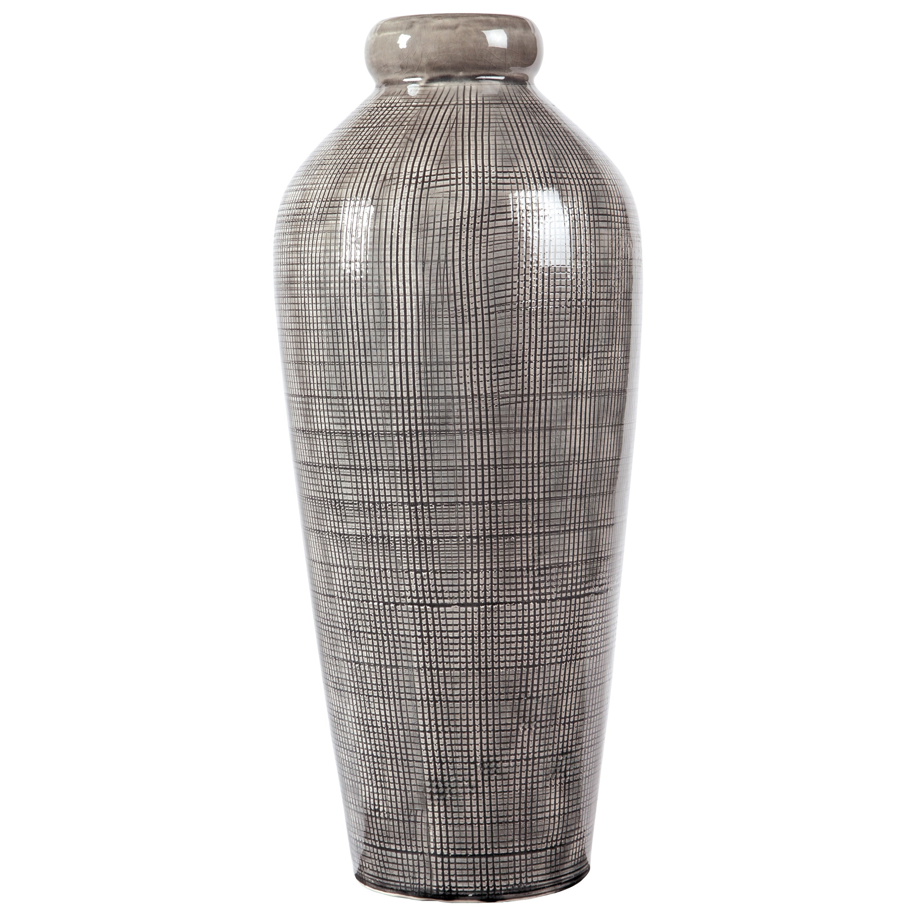 Signature Design by Ashley Accents Dilanne Gray Vase - Item Number: A2000279