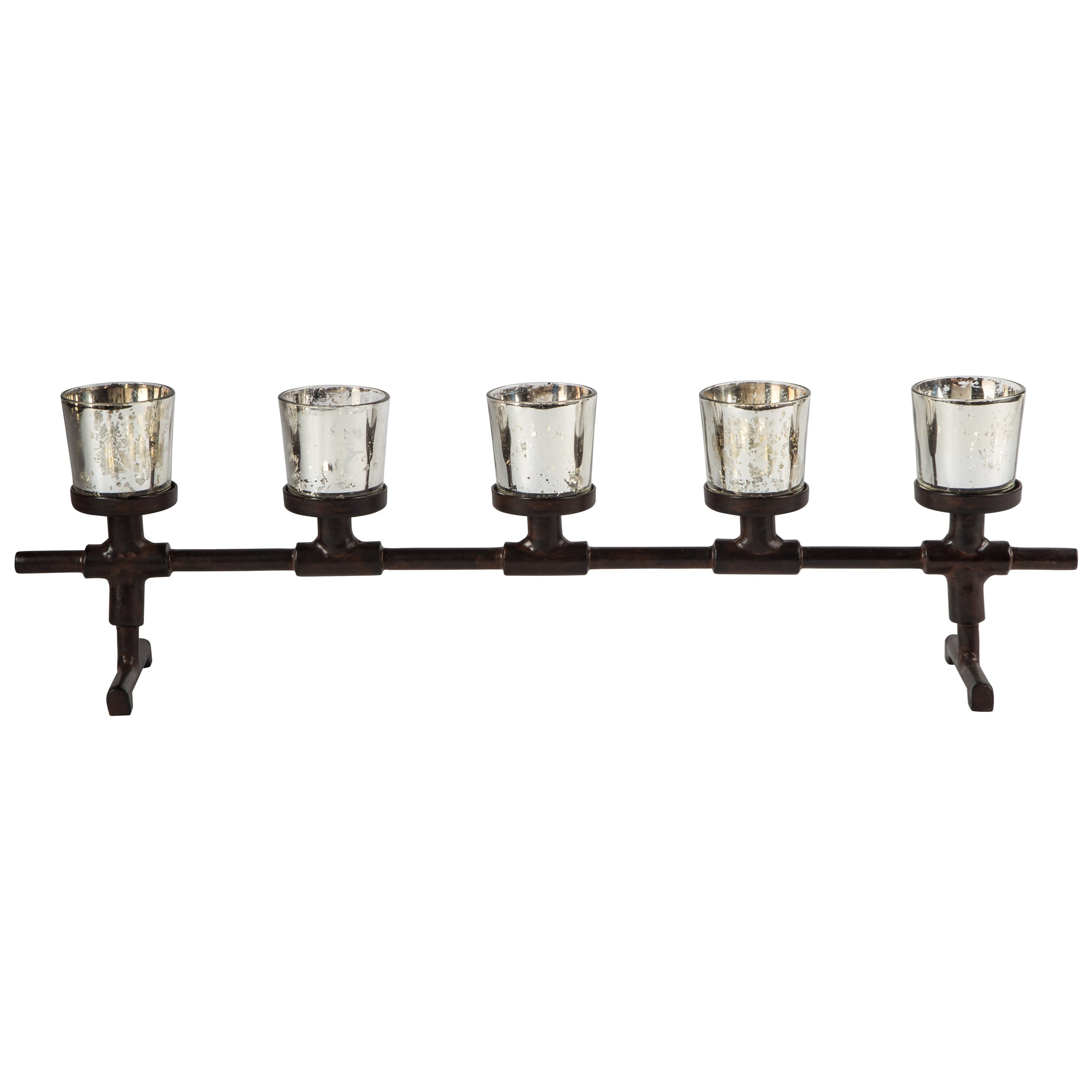 Signature Design by Ashley Accents Diara Antique Gray Candle Holder - Item Number: A2000283C