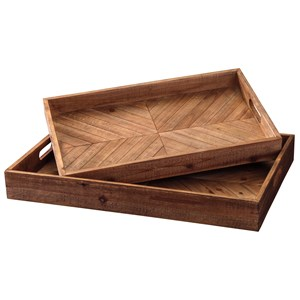 Ashley Signature Design Accents Dewitt Brown Tray Set