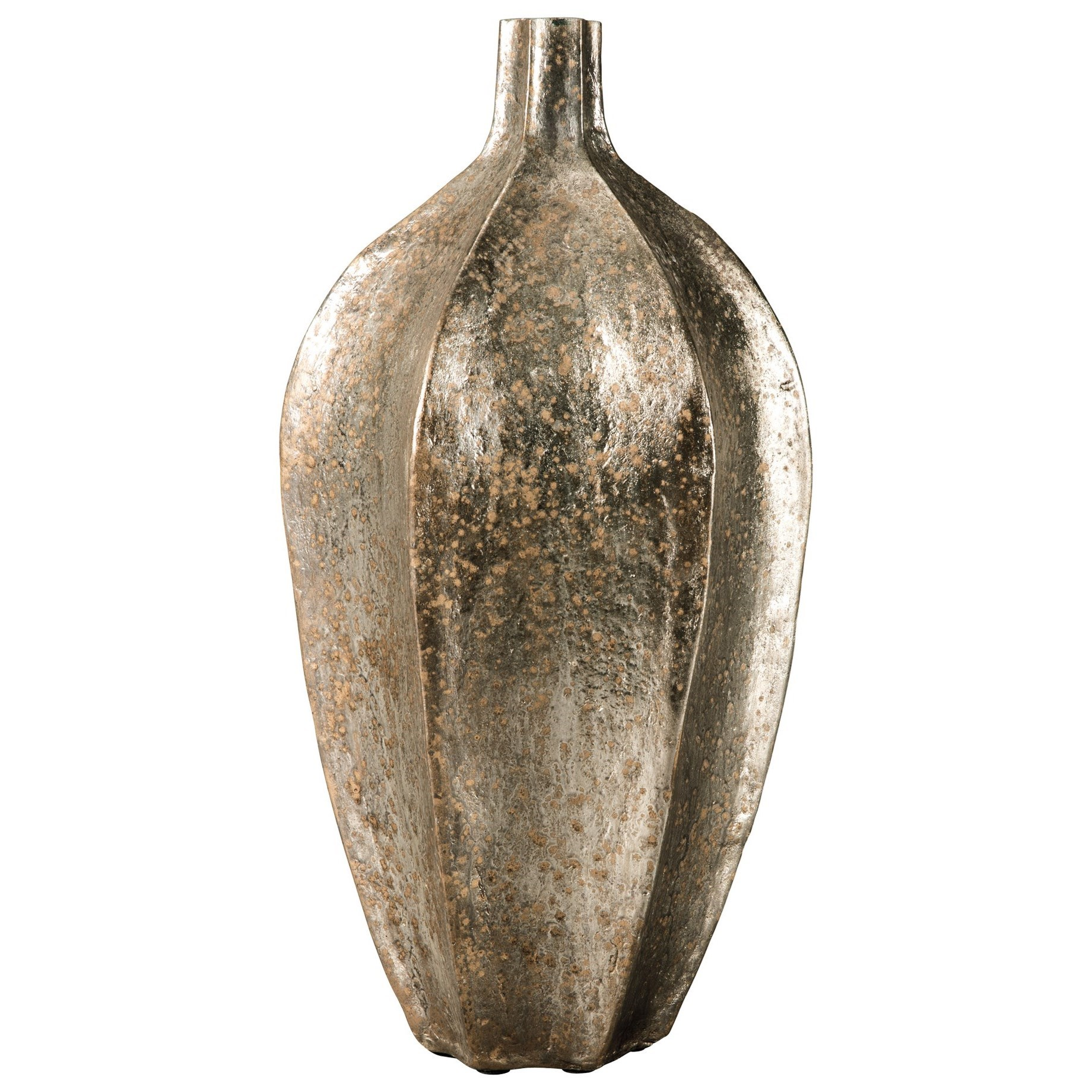 Signature Design by Ashley Accents Derion Antique Gold Finish Vase - Item Number: A2000302
