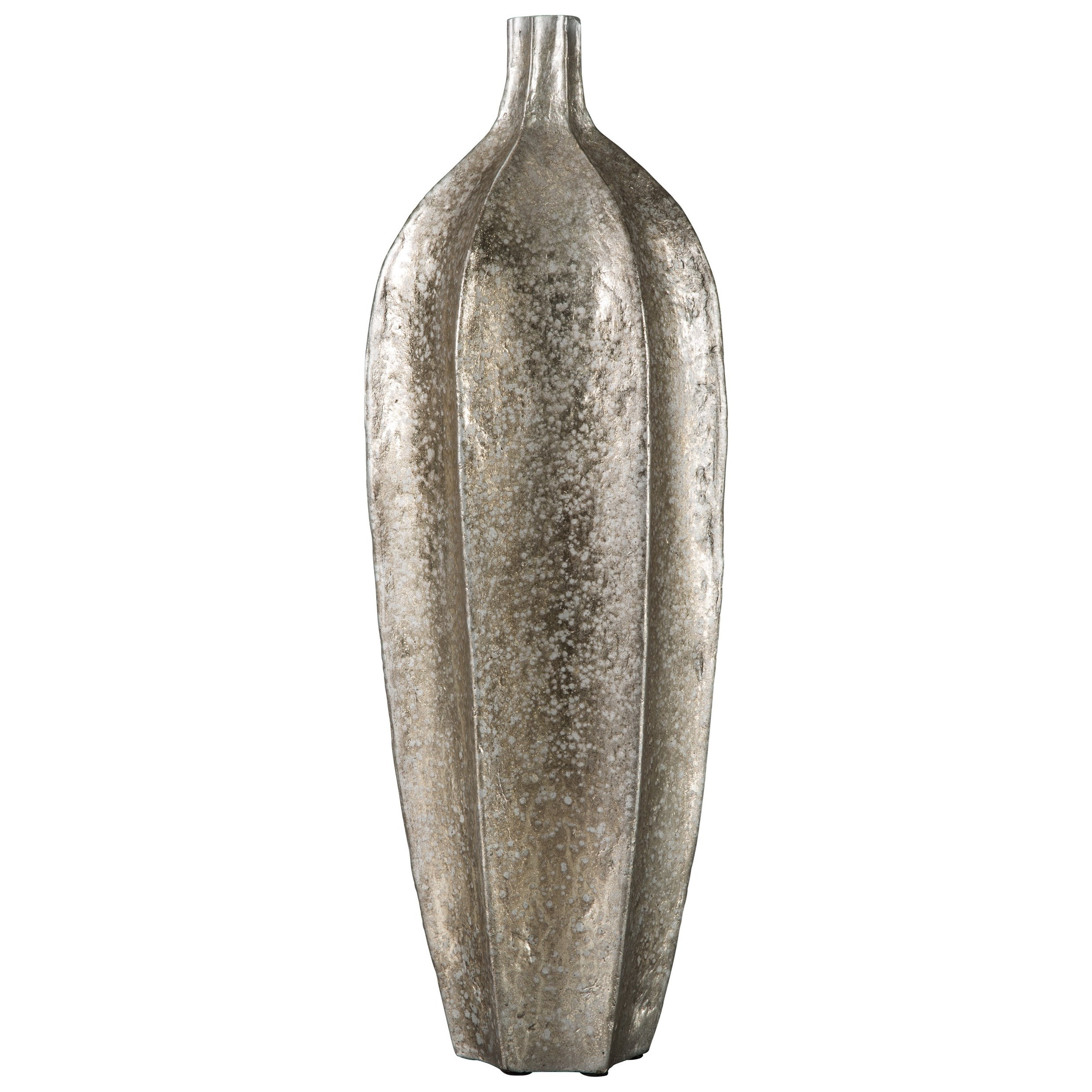 Signature Design by Ashley Accents Derion Antique Silver Finish Vase - Item Number: A2000305