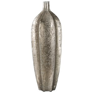 Signature Design by Ashley Accents Derion Antique Silver Finish Vase