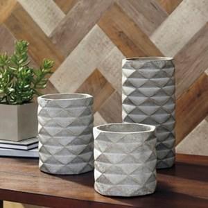 Signature Design by Ashley Accents Charlot 3-Piece Vase Set