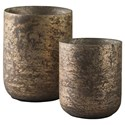 Ashley (Signature Design) Accents Christelle 2-Piece Candle Holder Set - Item Number: A2000313