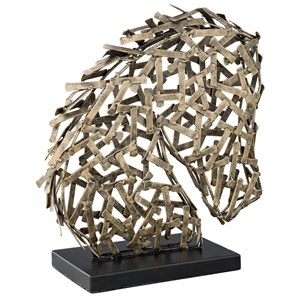 Nahla Antique Gold Finish Sculpture