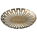 Signature Design by Ashley Accents Coline Gold Finish Tray - Item Number: A2000318T