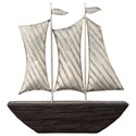 Signature Design by Ashley Accents Myla Brown/Silver Finish Ship Sculpture - Item Number: A2000319