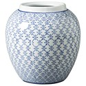 Signature Design by Ashley Accents Dionyhsius Blue/White Vase - Item Number: A2000341