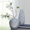 Signature Design by Ashley Accents Dionyhsius Blue/White Vase