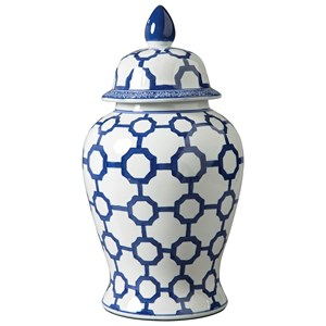 Ashley Signature Design Accents Dionyhsius Blue/White Jar
