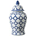 Signature Design by Ashley Accents Dionyhsius Blue/White Jar - Item Number: A2000344