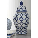 Signature Design by Ashley Accents Dionyhsius Blue/White Jar