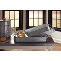 Signature Design by Ashley Accents 2-Piece Dido Gray/Black Tray Set