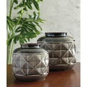 Signature Design by Ashley Accents Eire Taupe/Black Vase Set