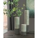 Signature Design by Ashley Accents Elwood Gray Vase Set
