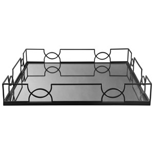 Ashley Signature Design Accents Dionicio Black/Mirror Tray