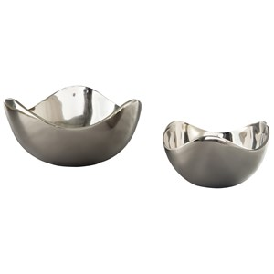 Ashley Signature Design Accents Donato Chrome Finish Bowl Set
