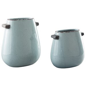 Ashley Signature Design Accents Diah Blue Vase Set