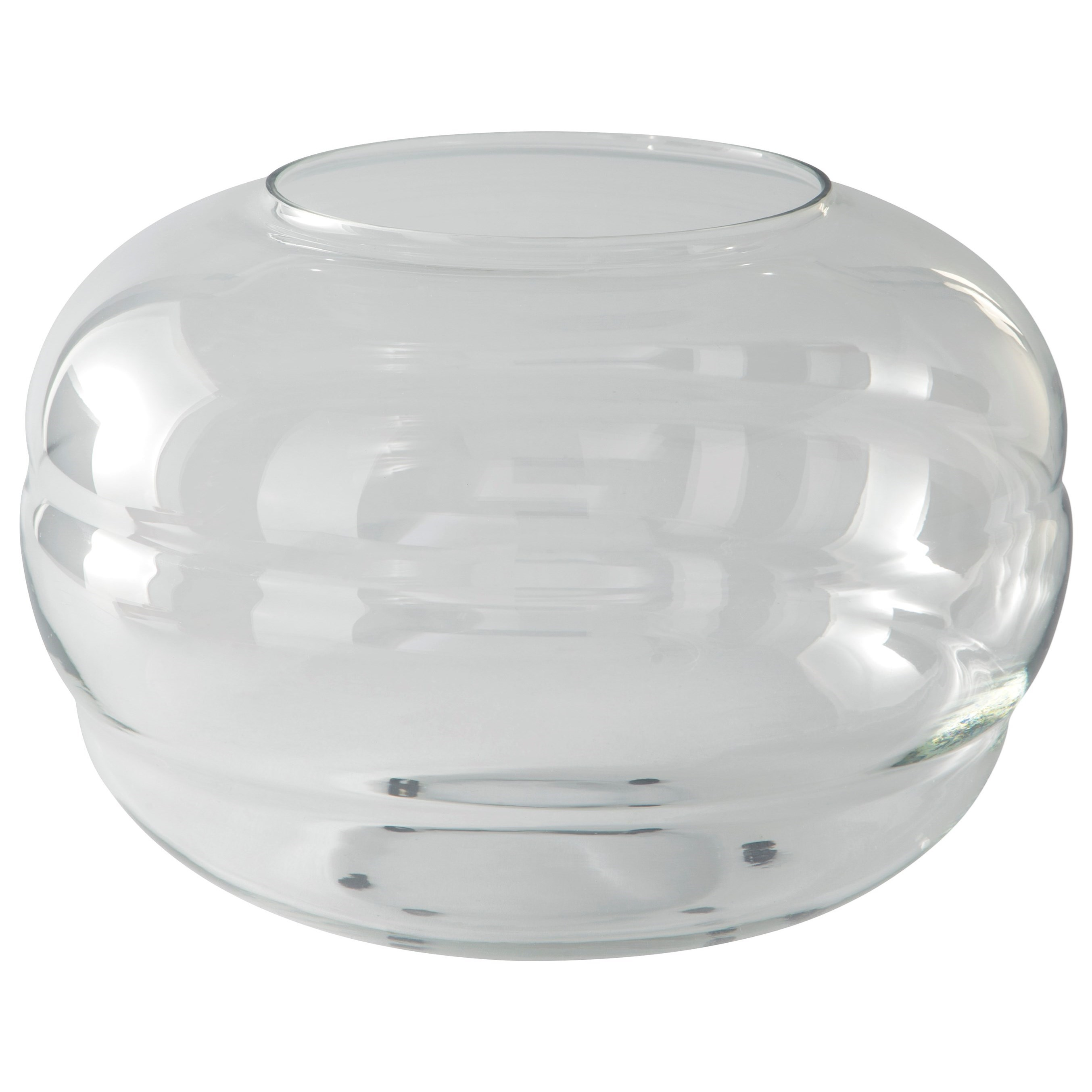 Accents Mabon Clear Glass Vase by Signature Design by Ashley at Furniture and ApplianceMart