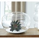 Signature Design by Ashley Accents Mabon Clear Glass Vase