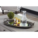 Signature Design by Ashley Accents Milena Antique Gold Finish Tray