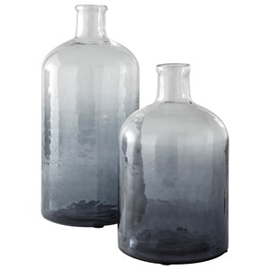 Maleah Navy Vase Set