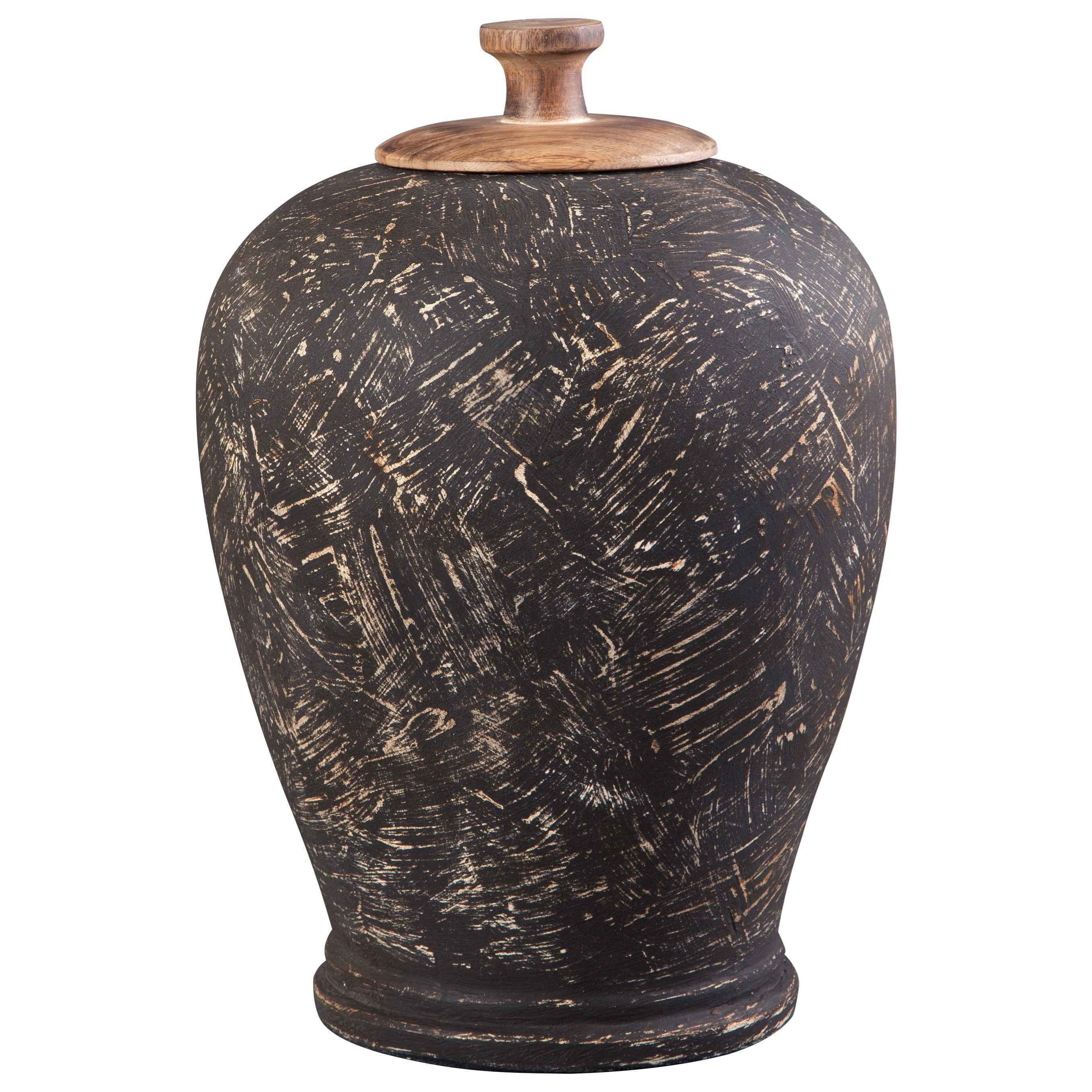 Accents Barric Antique Black Jar at Van Hill Furniture