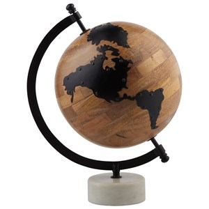 Alameda Natural/Black Globe Sculpture