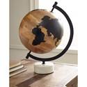 Signature Design by Ashley Accents Alameda Natural/Black Globe Sculpture